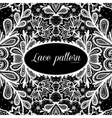 Black and white lace design vector image vector image