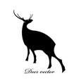 black deer logo scene vector image vector image