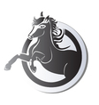 Black horse logo vector image vector image
