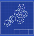 blueprints mechanical engineering drawings of vector image vector image