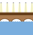 Brown Bridge Over The River vector image