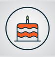 cake icon colored line symbol premium quality vector image
