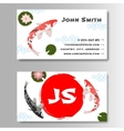 Carp Koi Asian style template business card vector image vector image
