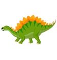 Cartoon stegosaurus vector image vector image