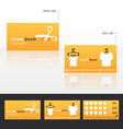 clothes business cards discount vector image