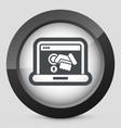 computer privacy concept icon vector image