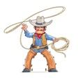 Cowboy with lasso American vector image vector image