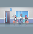 disabled arabic people injured in various cases vector image