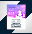 elegant pchristmas tree party flyer design vector image vector image