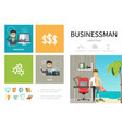 flat business people infographic template vector image vector image