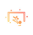 foot ball icon design vector image