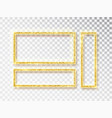 gold shiny glowing frame set gold banners vector image