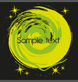 green and black abstract circular background vector image vector image