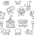 hand draw object circus of doodles vector image vector image