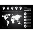 infographic elements color set vector image vector image