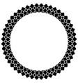 islamic geometric figures ornament round frame vector image