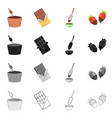 isolated object of food and yummy icon set of vector image