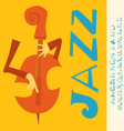 JAZZ concert Music with font vector image vector image