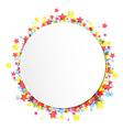 label on star confetti vector image vector image