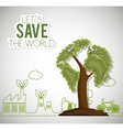 lets save the world ecology factory house bike vector image vector image