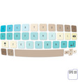 magic keyboard isolated on white background vector image vector image