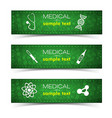 medicine and pharmacy banners set vector image vector image