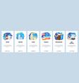 mobile app onboarding screens bar drinks vector image vector image