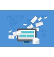 modern flat design email marketing vector image