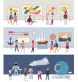 museum and art gallery set art culture vector image vector image