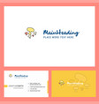 mushroom logo design with tagline front and back vector image vector image