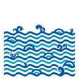 ocean wave wallpaper vector image vector image