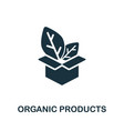 organic products icon from farming
