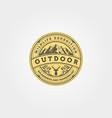 outdoor icon logo emblem design adventure vintage vector image vector image