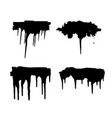 paint blob ink splatter drop black liquid splash vector image