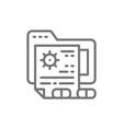 patient files medical prescription folder line vector image