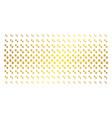 paw footprints gold halftone matrix vector image vector image