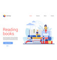 people read books interface vector image