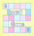 pink and blue board game template vector image