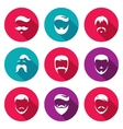 Retro Mens Hair Styles Icons Set vector image vector image