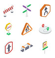road board and symbols pack vector image