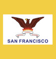 san francisco flag vector image