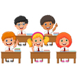 School children in classroom at lesson vector image vector image