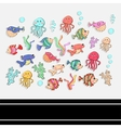 Sea setScrapbook setSticker vector image vector image