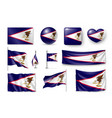 set american samoa realistic flags banners vector image