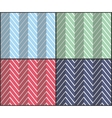 set herringbone zigzag seamless patterns vector image