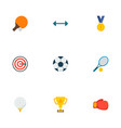 set of sport icons flat style symbols with darts vector image vector image