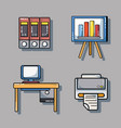 set office tool to company information report vector image vector image