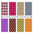 set seamless decorative geometric shapes vector image