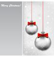 Silver bals vector image