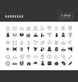 simple icons hanukkah vector image